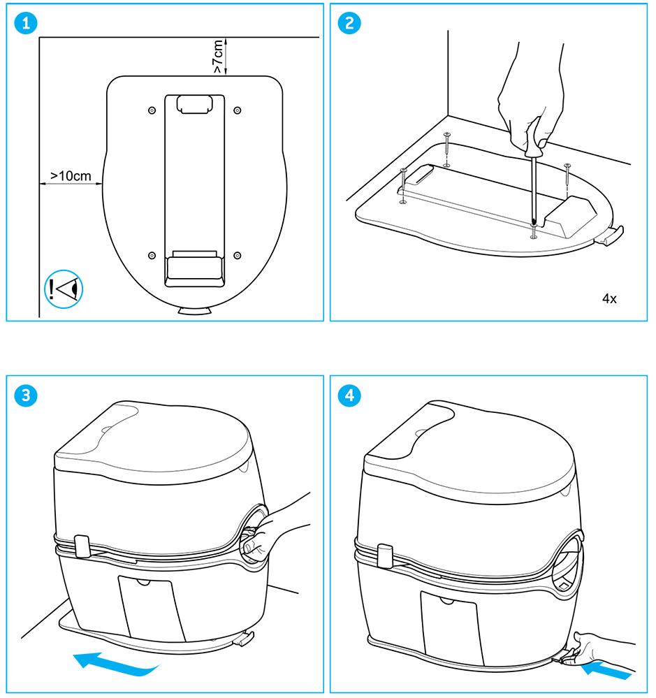 Suport-fixare-Porta-Potti-Excellence-Thetford-schema-montaj